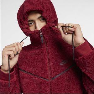 Cuidado cama He aprendido  Nike Shirts | Nike Tech Icon Sherpa Windrunner Hoodie Size M | Poshmark